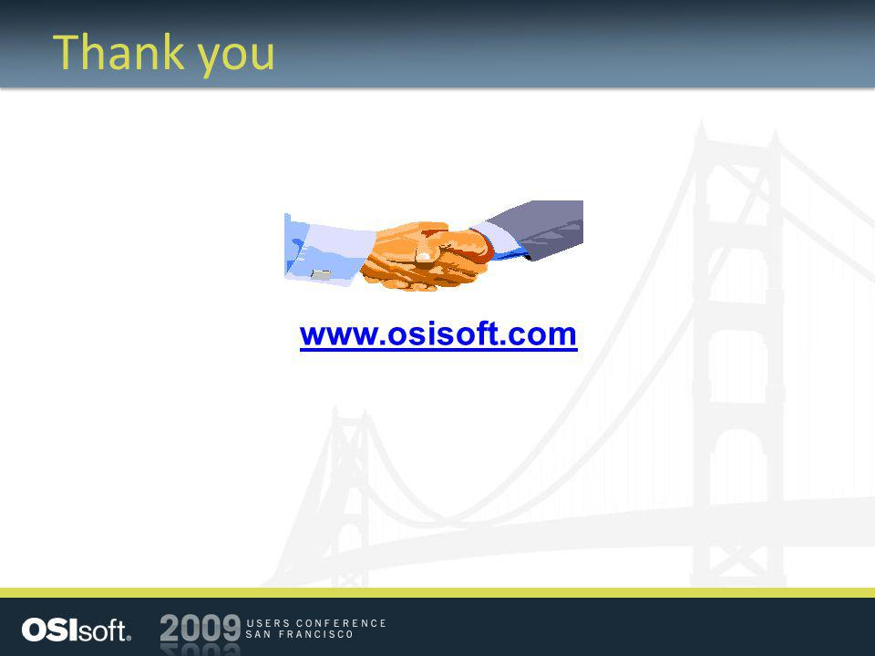 Thank you www.osisoft.com