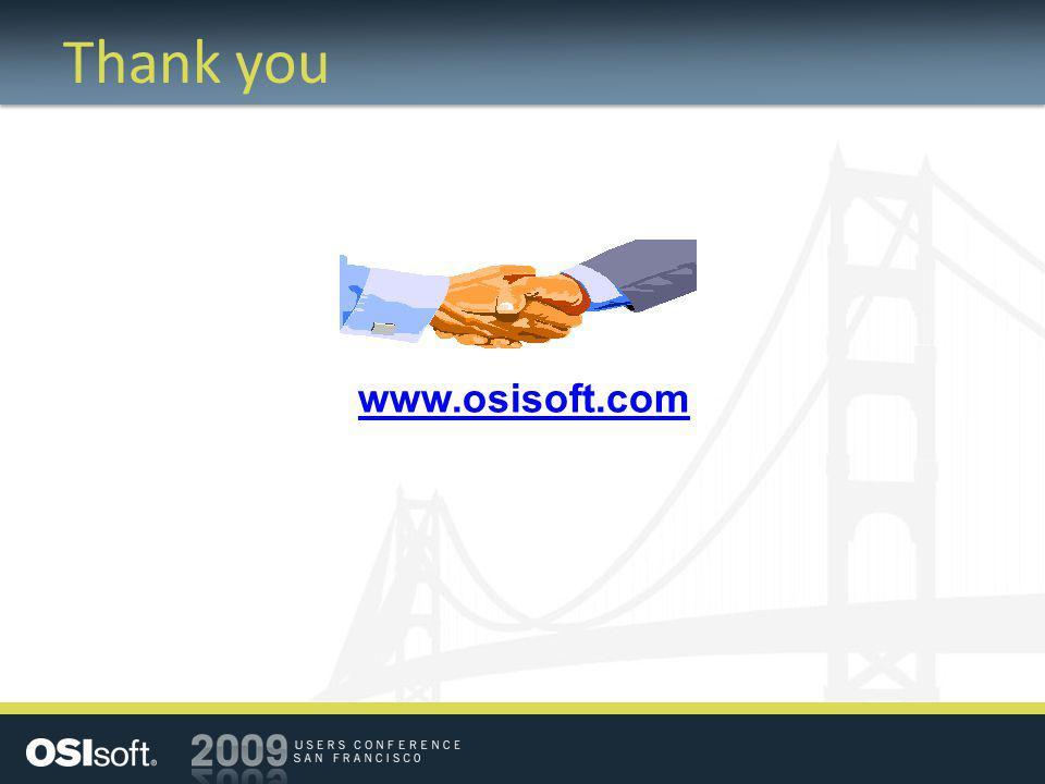 Thank you www.osisoft.com