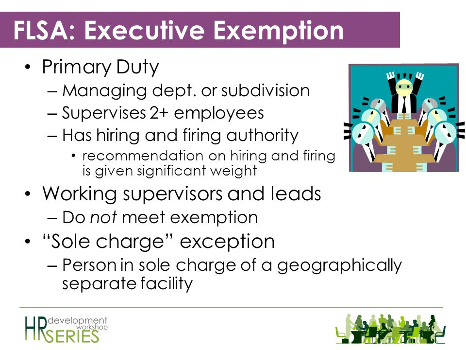 Exemptions Executive Administrative Professional Outside Sales Computer Employees