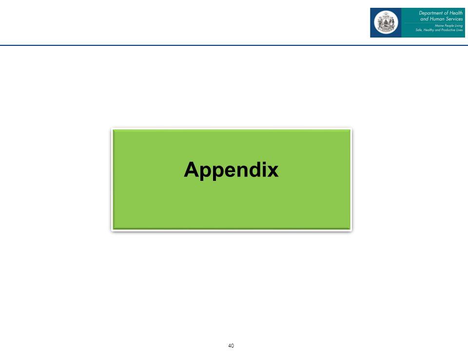 40 Appendix
