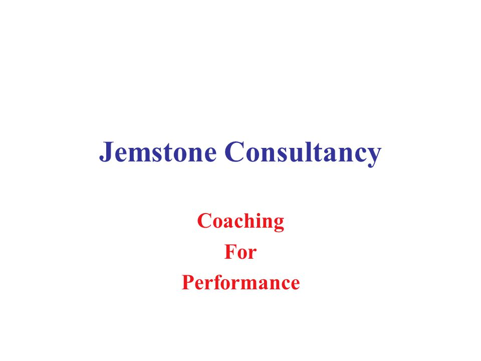 Jemstone Consultancy Coaching For Performance