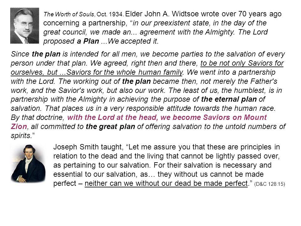 The Worth of Souls, Oct. 1934. Elder John A.