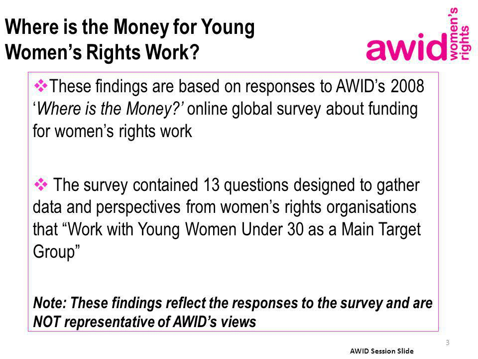 Where is the Money for Young Womens Rights Work.