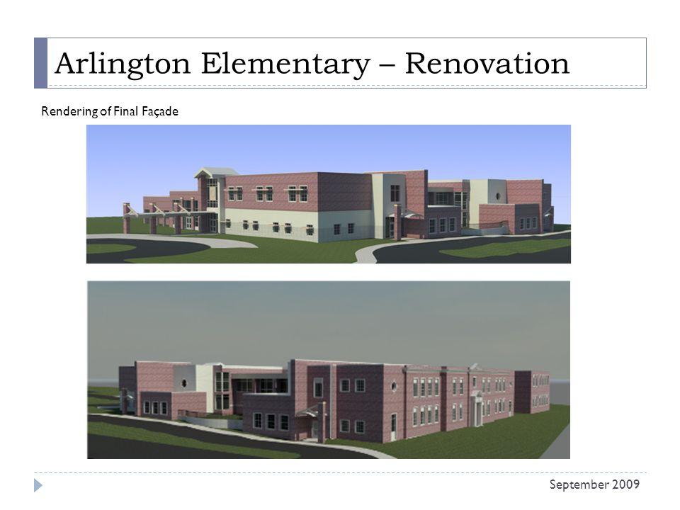 Arlington Elementary – Renovation Rendering of Final Façade September 2009