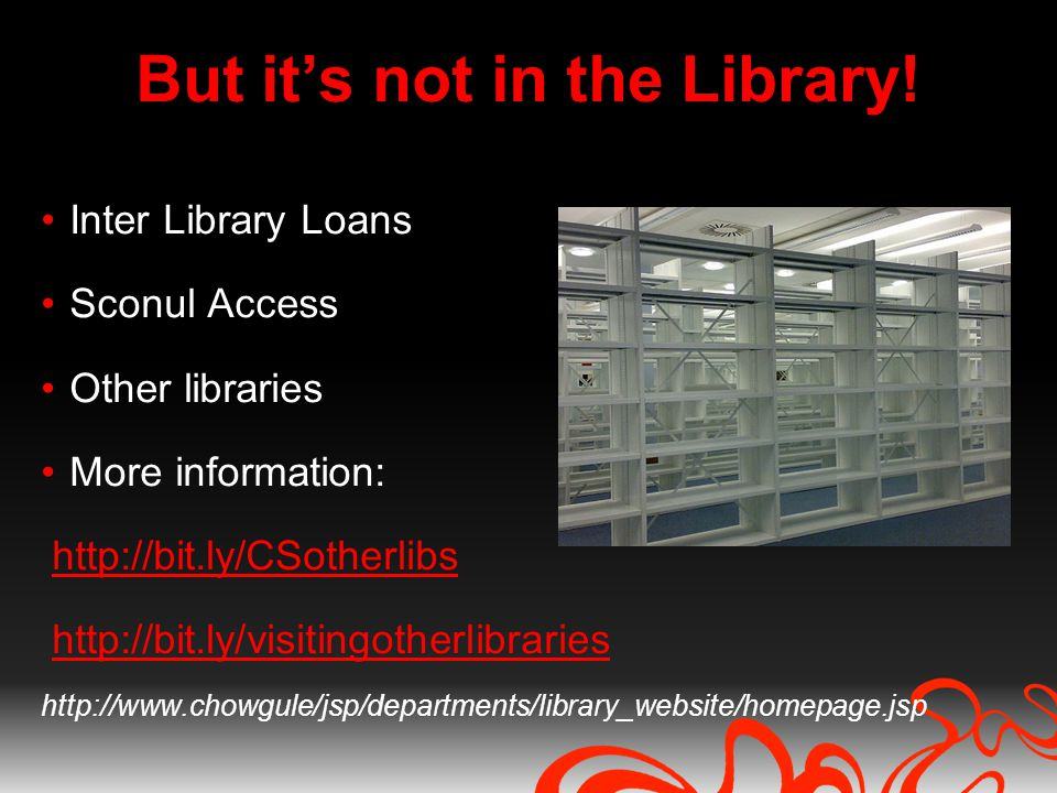 But its not in the Library.