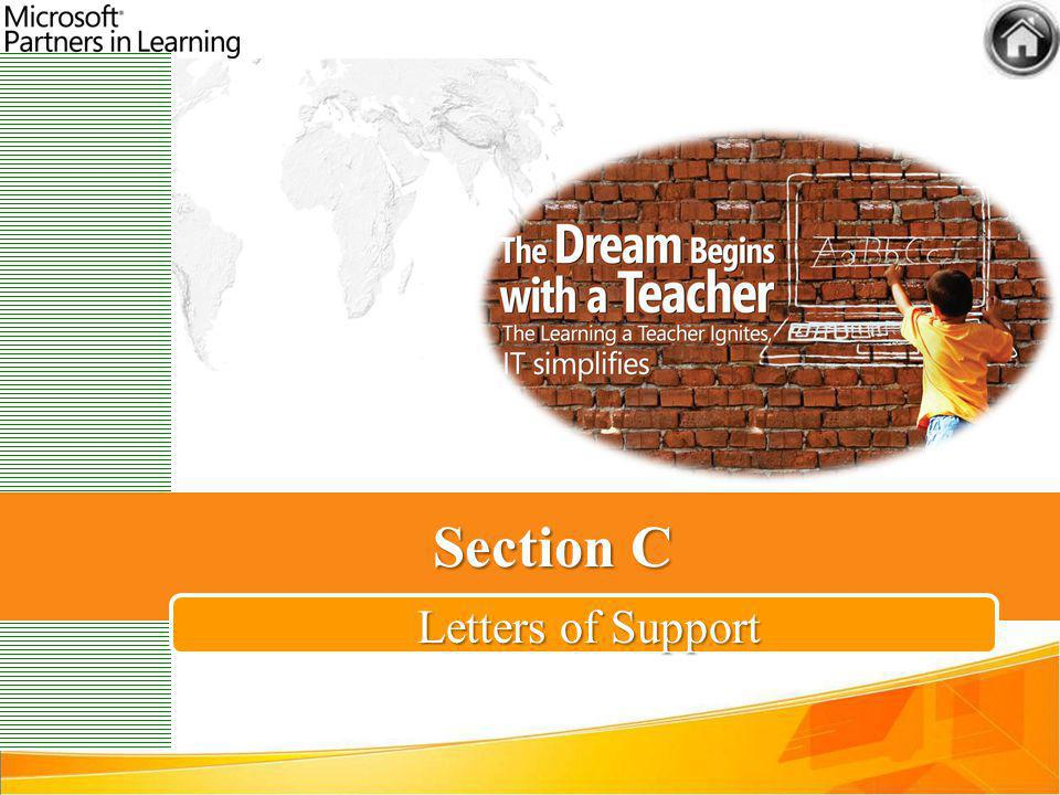 Section C Letters of Support