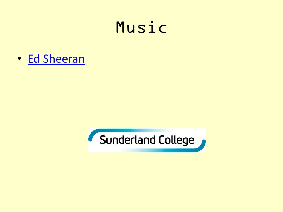 Music Ed Sheeran
