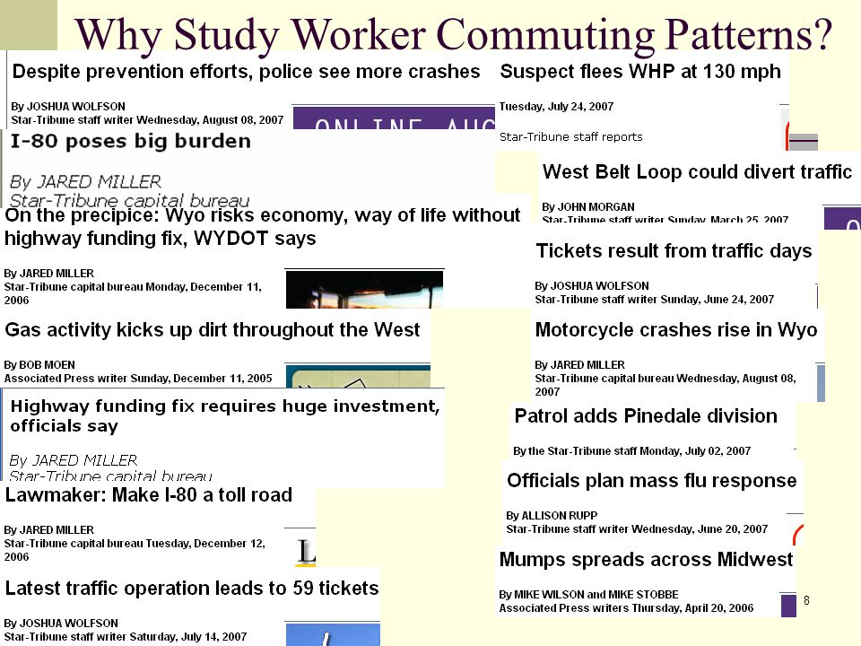 8 Why Study Worker Commuting Patterns