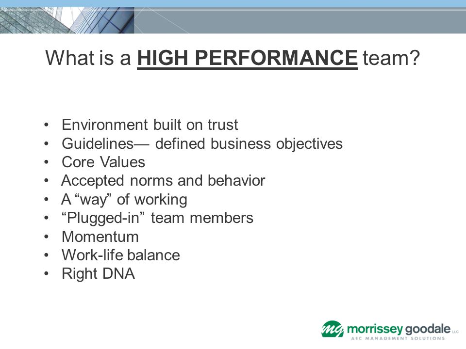 Environment Built on Trust Source: Five Dysfunctions of a Team: Peter Lencioni