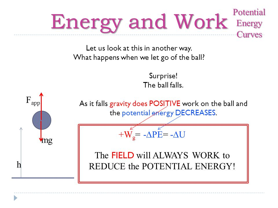Energy and Work E x Total Energy U Potential Energy Curves Last thing…I promise.