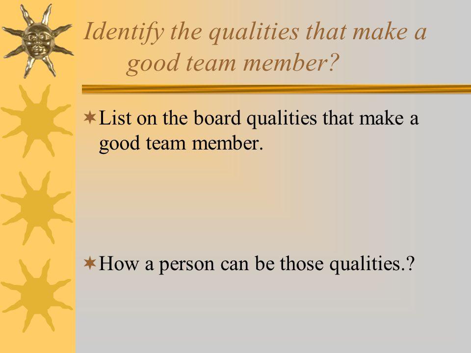 Team Work Work Based Learning