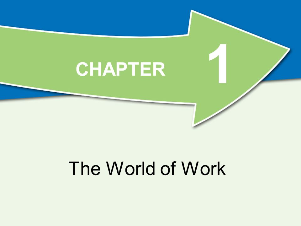 CHAPTER 1 The World of Work
