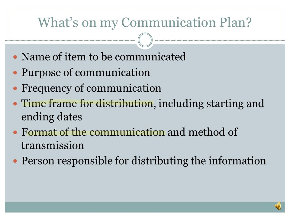 Communication Success Project Sponsor is key to success! Communications Planning PMP definition: Involves determining the communication needs of the s