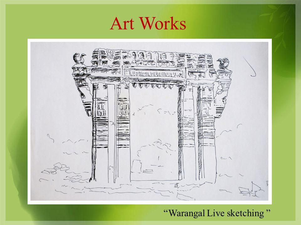 Art Works Warangal Live sketching