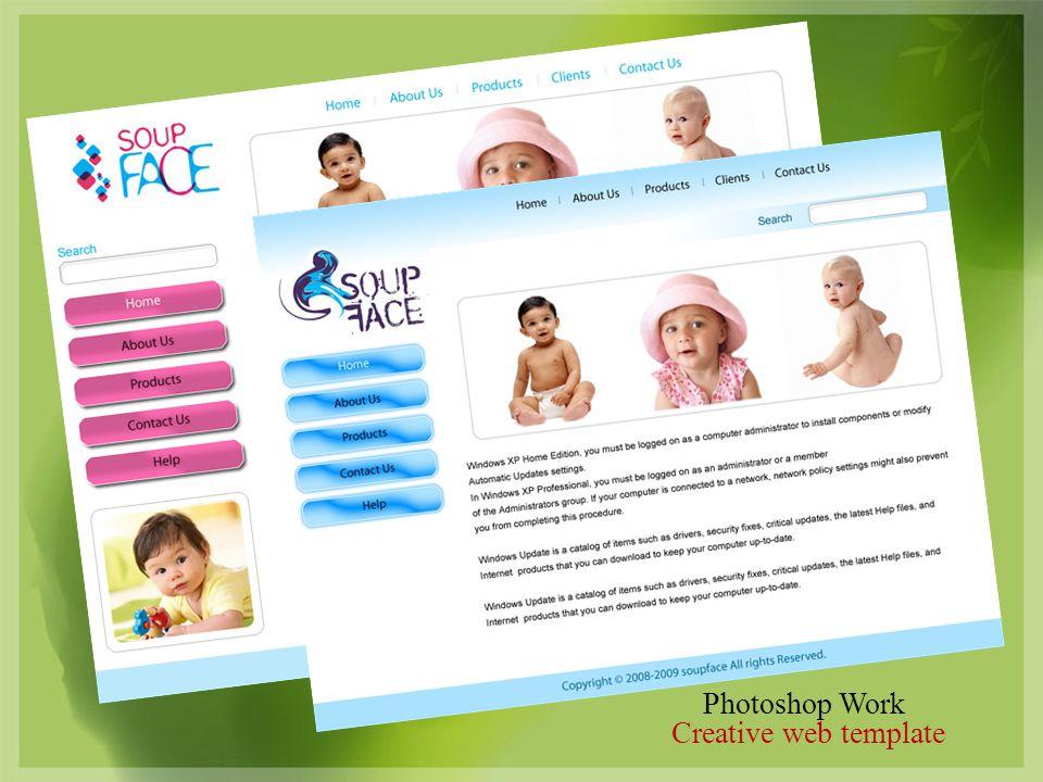 Photoshop Work Creative web template