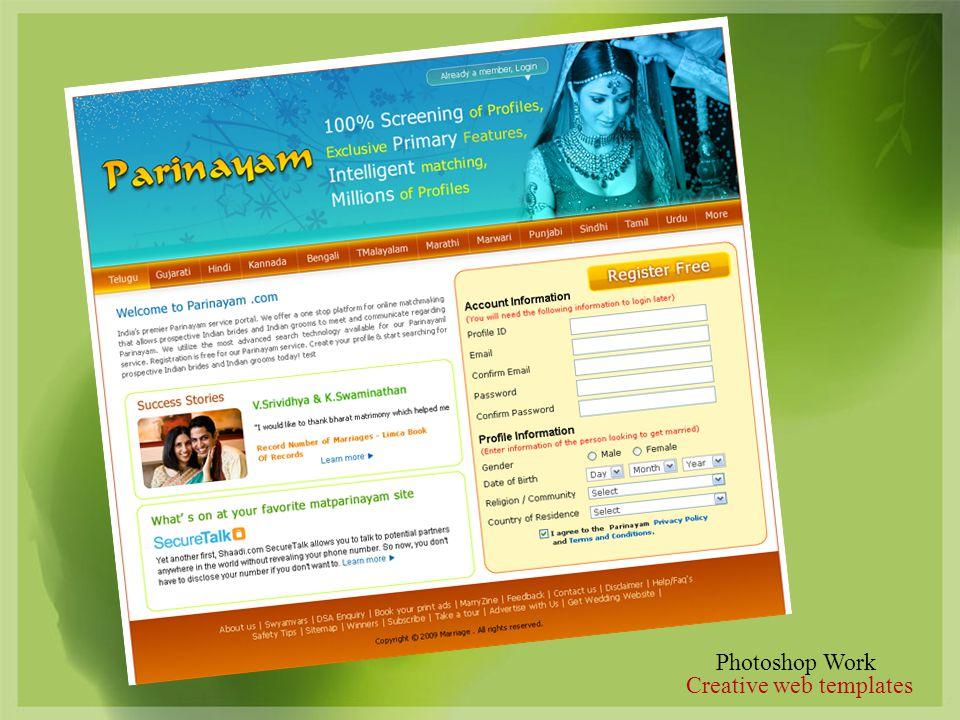 Photoshop Work Creative web templates