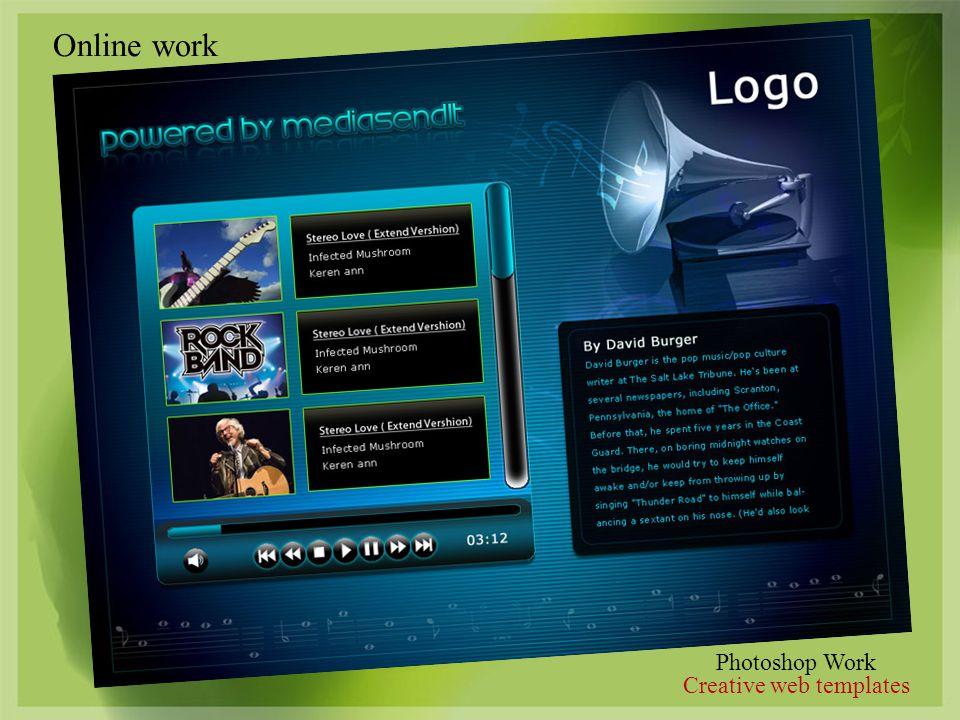 Photoshop Work Creative web templates Online work