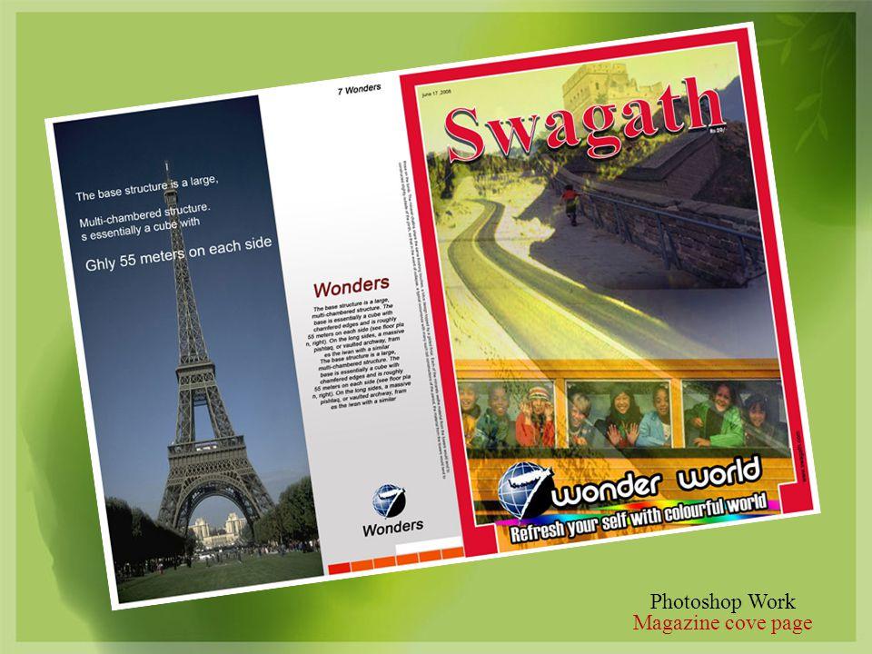 Photoshop Work Magazine cove page
