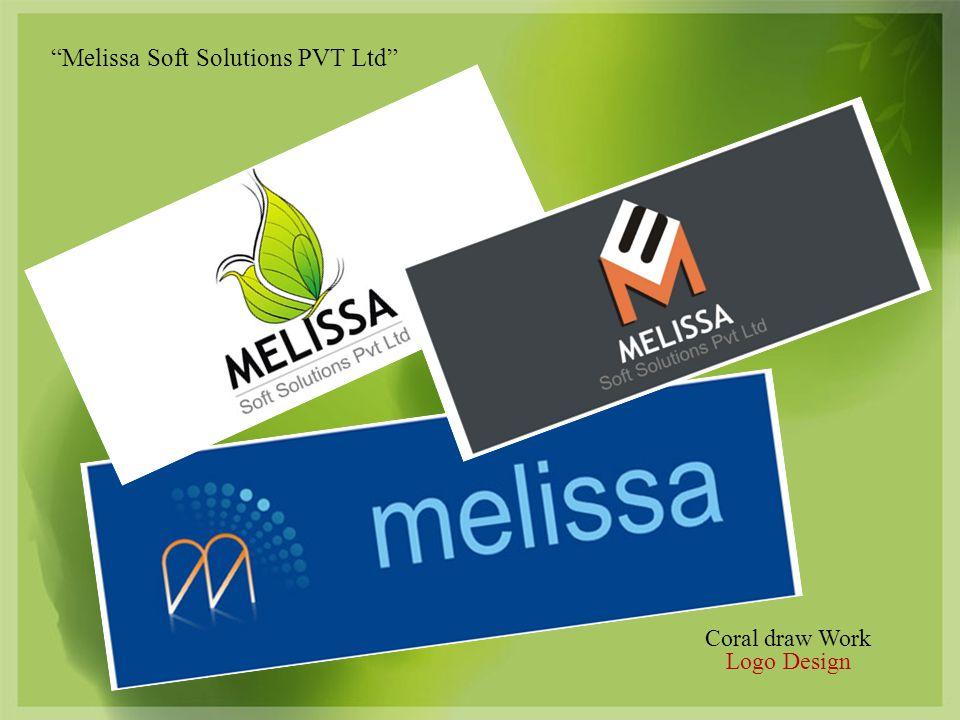 Coral draw Work Logo Design Melissa Soft Solutions PVT Ltd