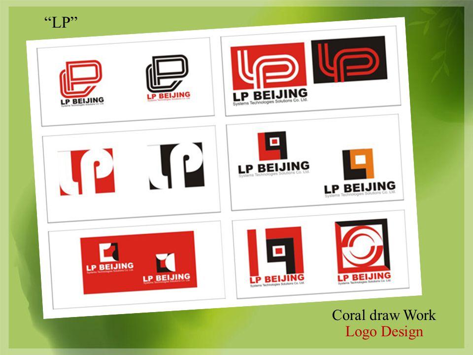 Coral draw Work Logo Design LP