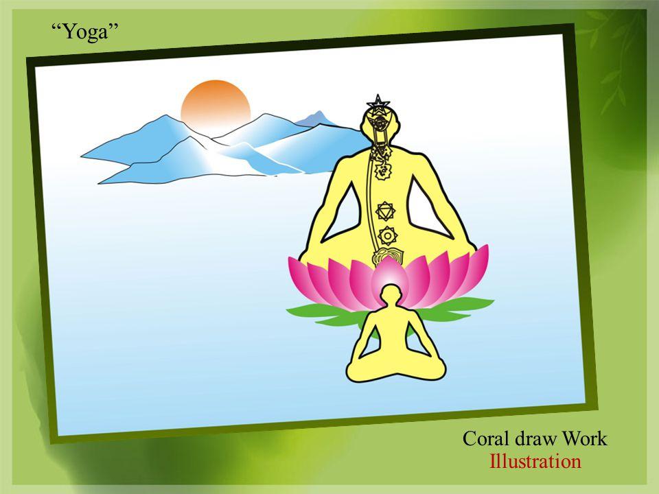 Coral draw Work Illustration Yoga