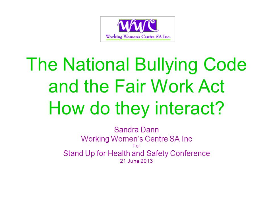 Prevention of bullying in the workplace Amendments in Schedule 3 are part of the Governments response to the report from a recent inquiry by the House of Representatives Standing Committee on Education and Employment into workplace bullying.