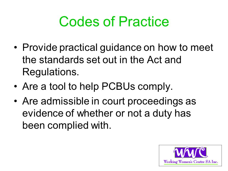 Draft Code of Practice wpb Open for public comment until Monday 15 July 2013.