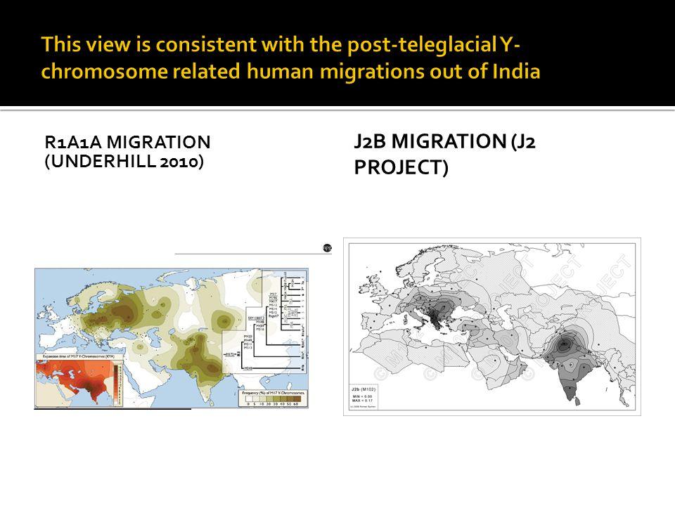R1A1A MIGRATION (UNDERHILL 2010) J2B MIGRATION (J2 PROJECT)