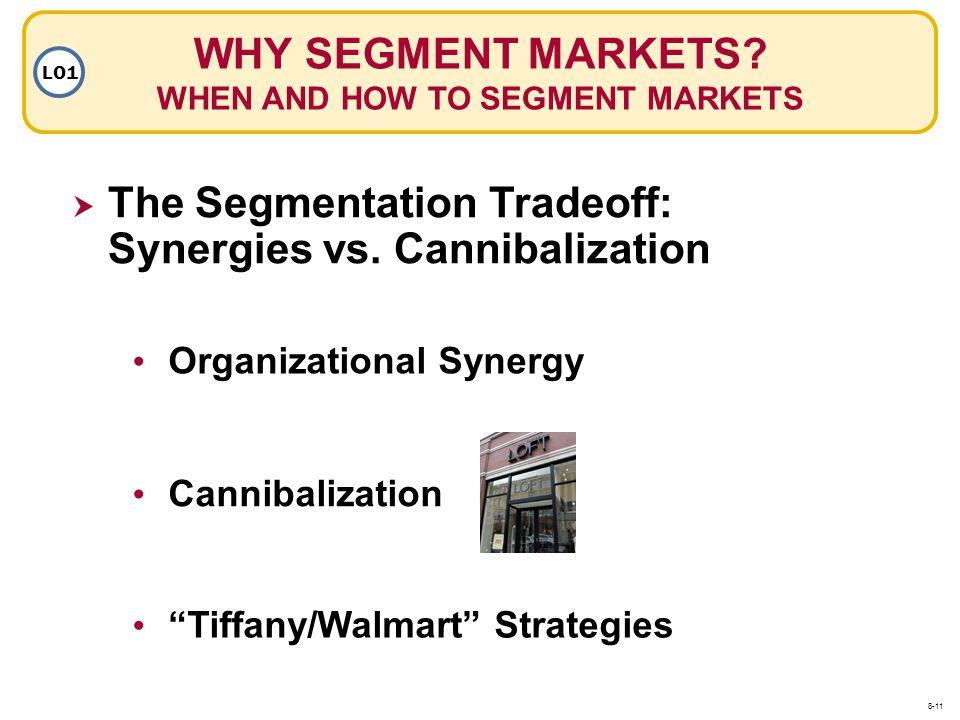 WHY SEGMENT MARKETS? WHEN AND HOW TO SEGMENT MARKETS LO1 The Segmentation Tradeoff: Synergies vs. Cannibalization Organizational Synergy Cannibalizati
