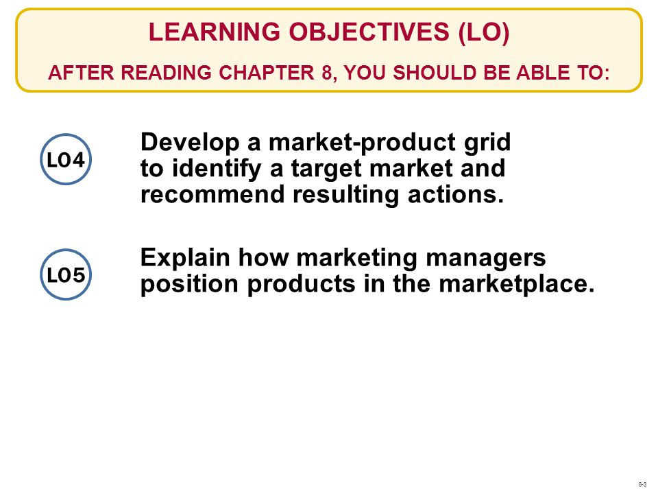 Develop a market-product grid to identify a target market and recommend resulting actions. Explain how marketing managers position products in the mar