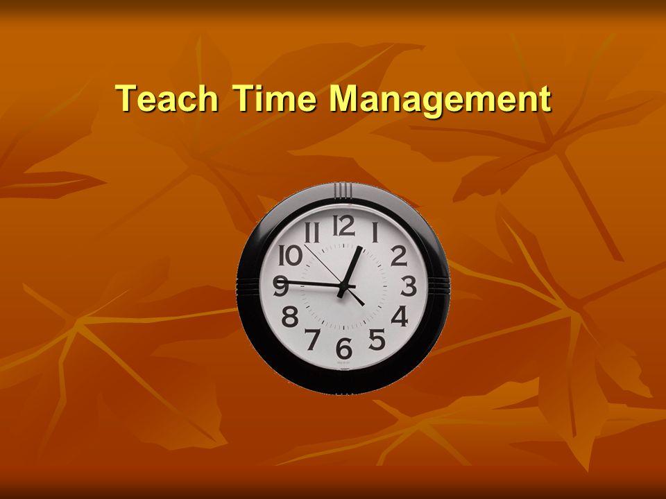 Teach Time Management