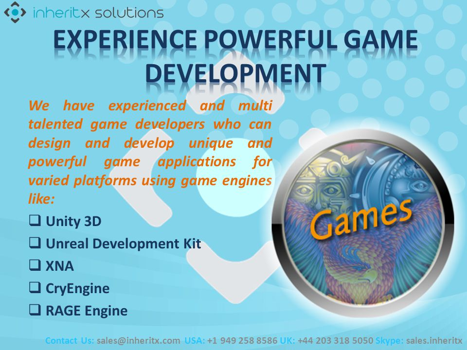 We have experienced and multi talented game developers who can design and develop unique and powerful game applications for varied platforms using gam