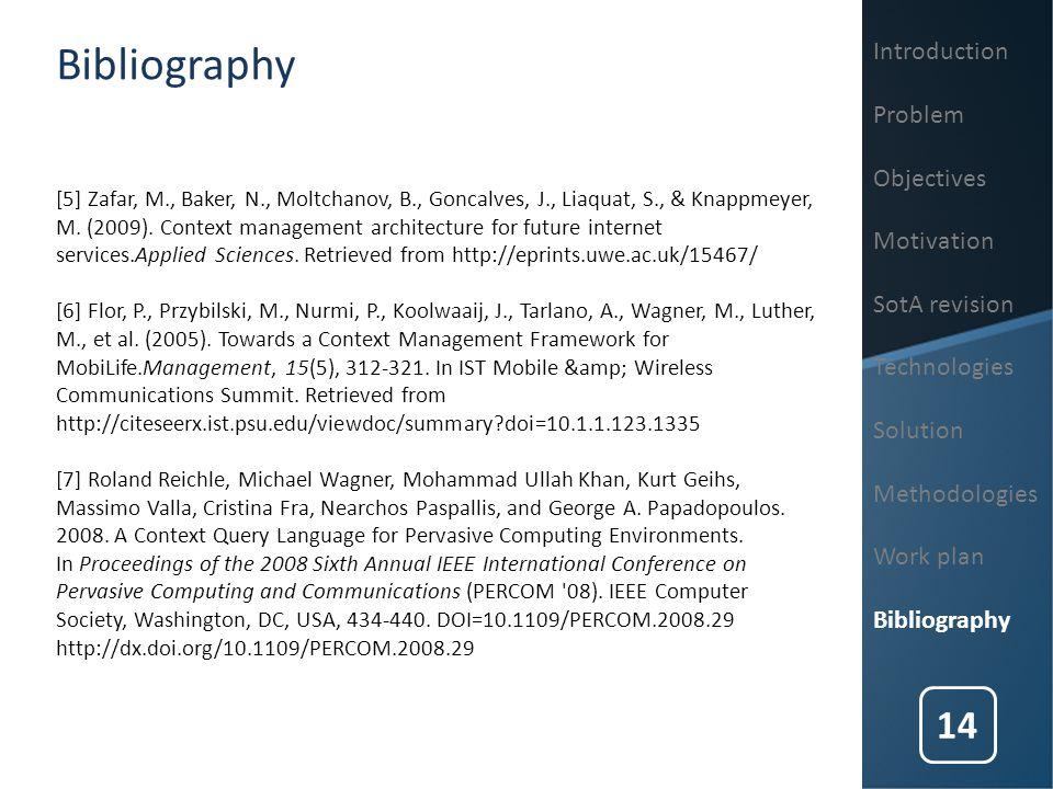 [5] Zafar, M., Baker, N., Moltchanov, B., Goncalves, J., Liaquat, S., & Knappmeyer, M. (2009). Context management architecture for future internet ser
