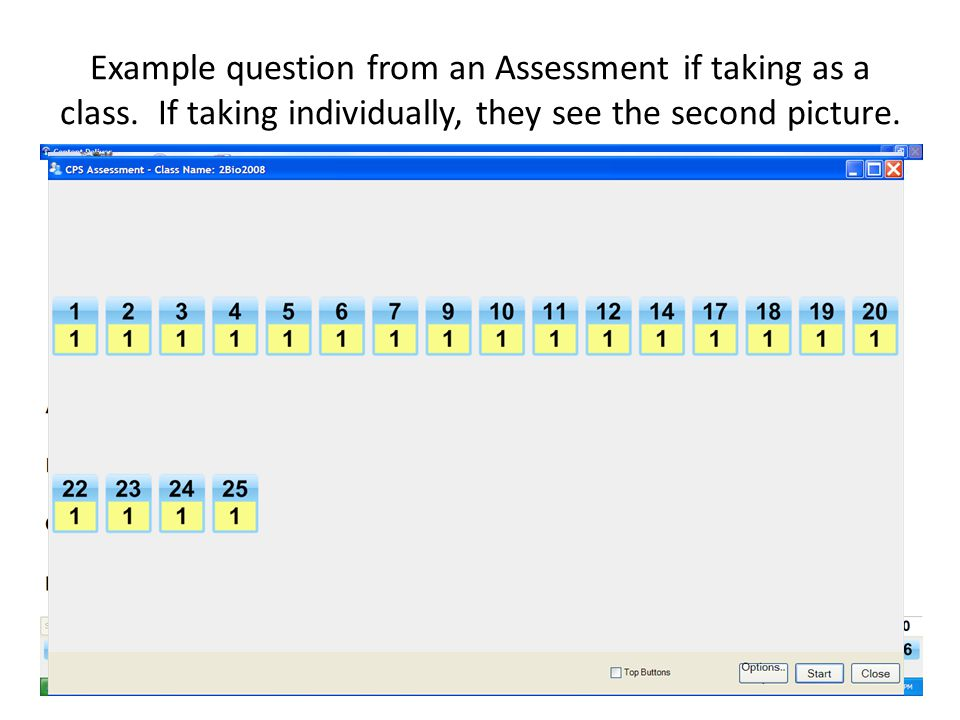 Example question from an Assessment if taking as a class.