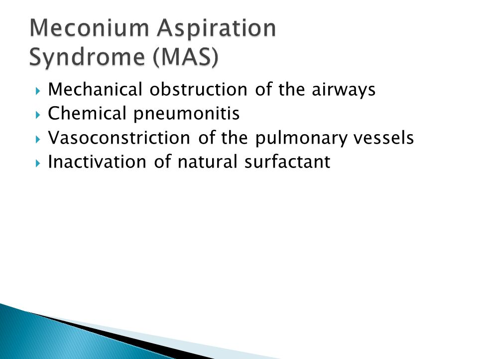 Mechanical obstruction of the airways Chemical pneumonitis Vasoconstriction of the pulmonary vessels Inactivation of natural surfactant