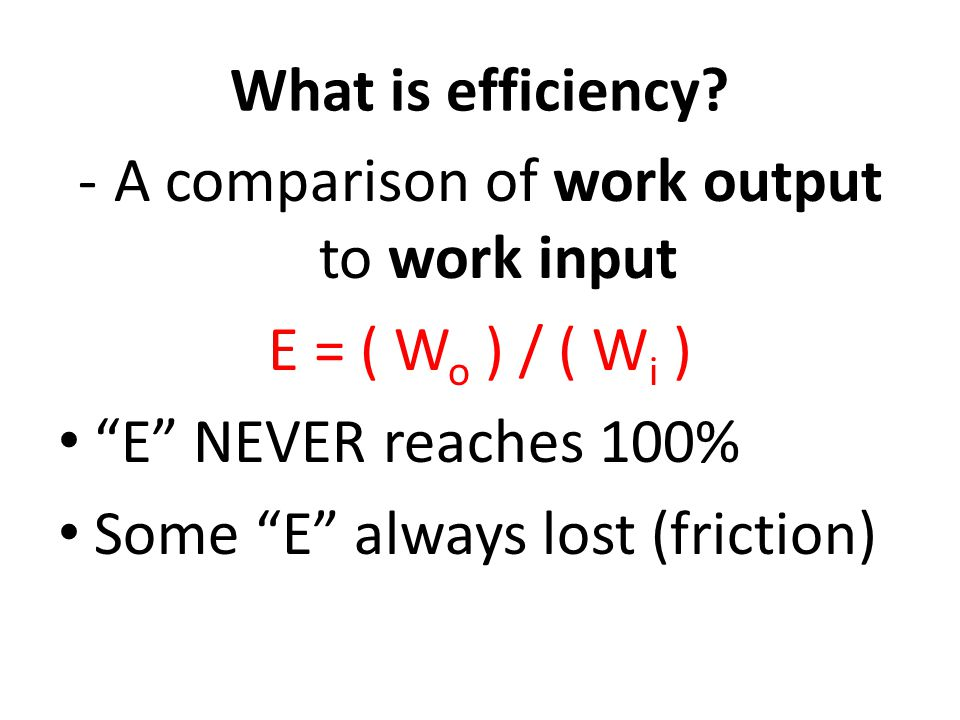 What is efficiency.