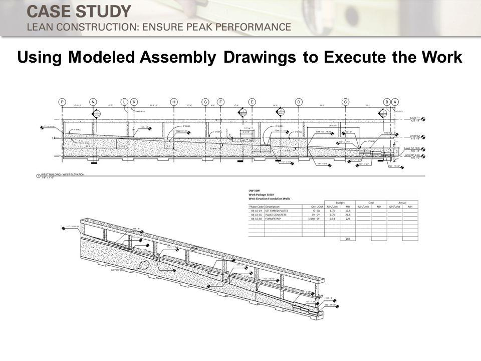 Using Modeled Assembly Drawings to Execute the Work