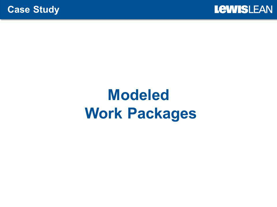 Modeled Work Packages Case Study