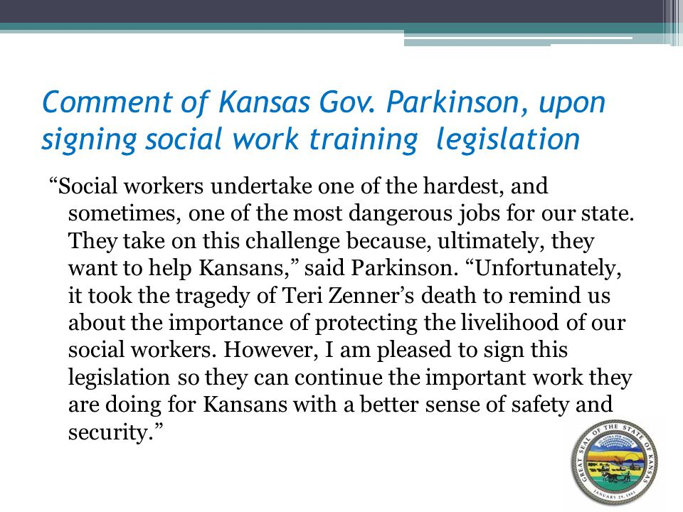Comment of Kansas Gov.