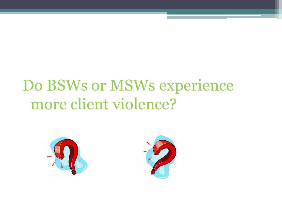 Do BSWs or MSWs experience more client violence?