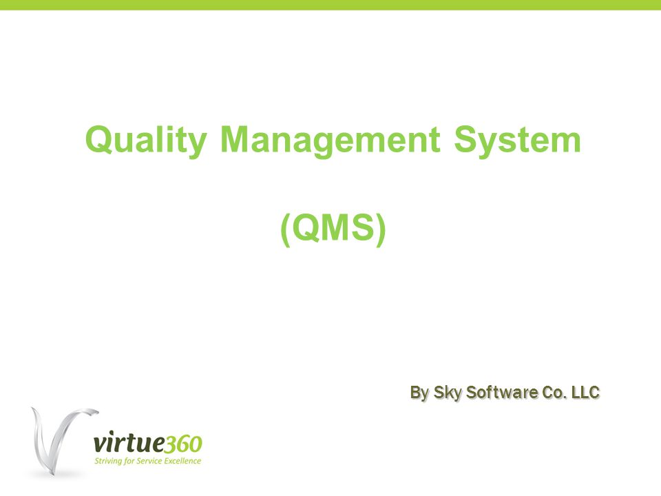 Quality Management System (QMS) By Sky Software Co. LLC