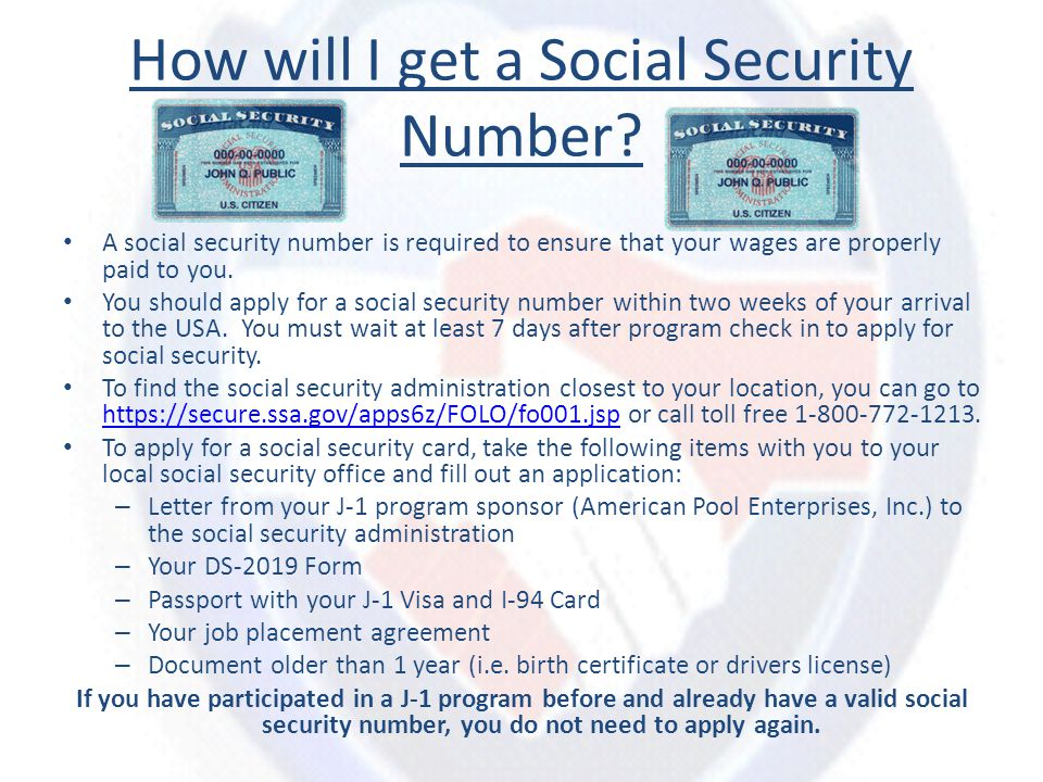 How will I get a Social Security Number.