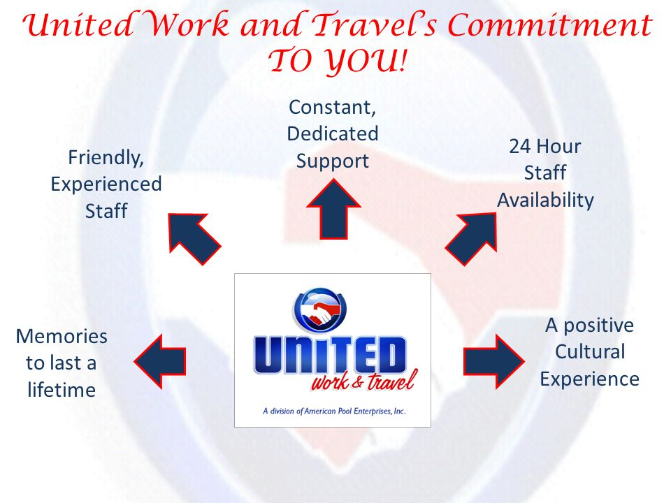 United Work and Travels Commitment TO YOU.