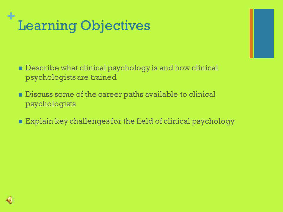 + The Professional Training of Clinical Psychologists Melody N.