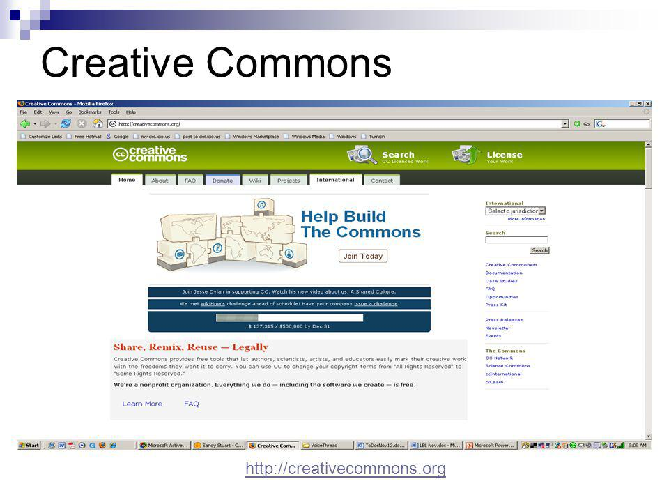 Creative Commons http://creativecommons.org
