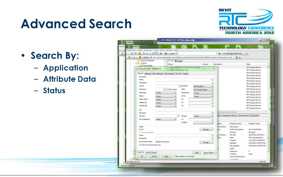 Advanced Search Search By: – Application – Attribute Data – Status