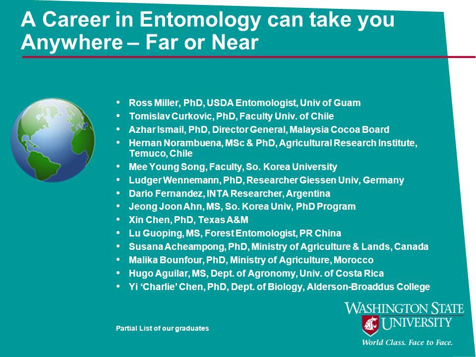 A Career in Entomology can take you Anywhere – Far or Near Ross Miller, PhD, USDA Entomologist, Univ of Guam Tomislav Curkovic, PhD, Faculty Univ.