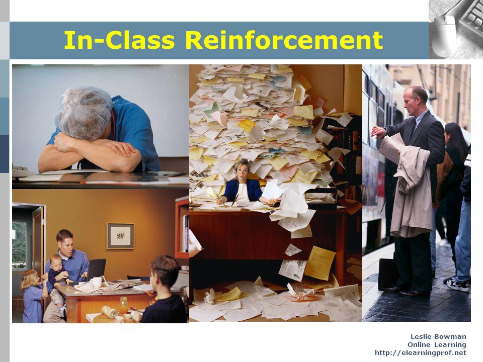 Leslie Bowman Online Learning http://elearningprof.net In-Class Reinforcement