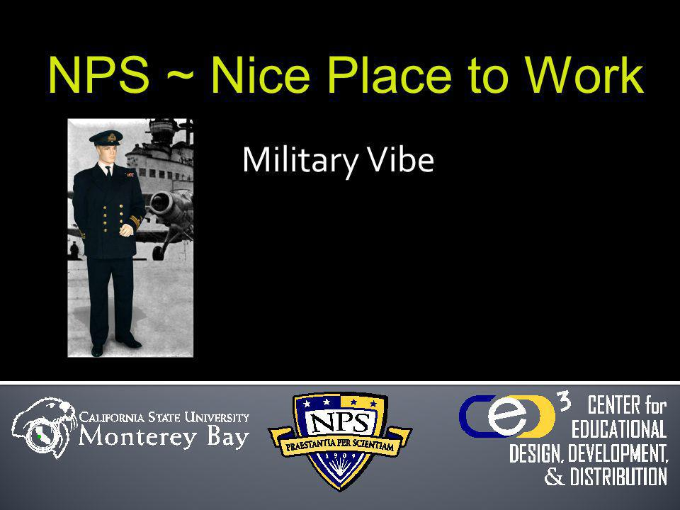 Military Vibe NPS ~ Nice Place to Work