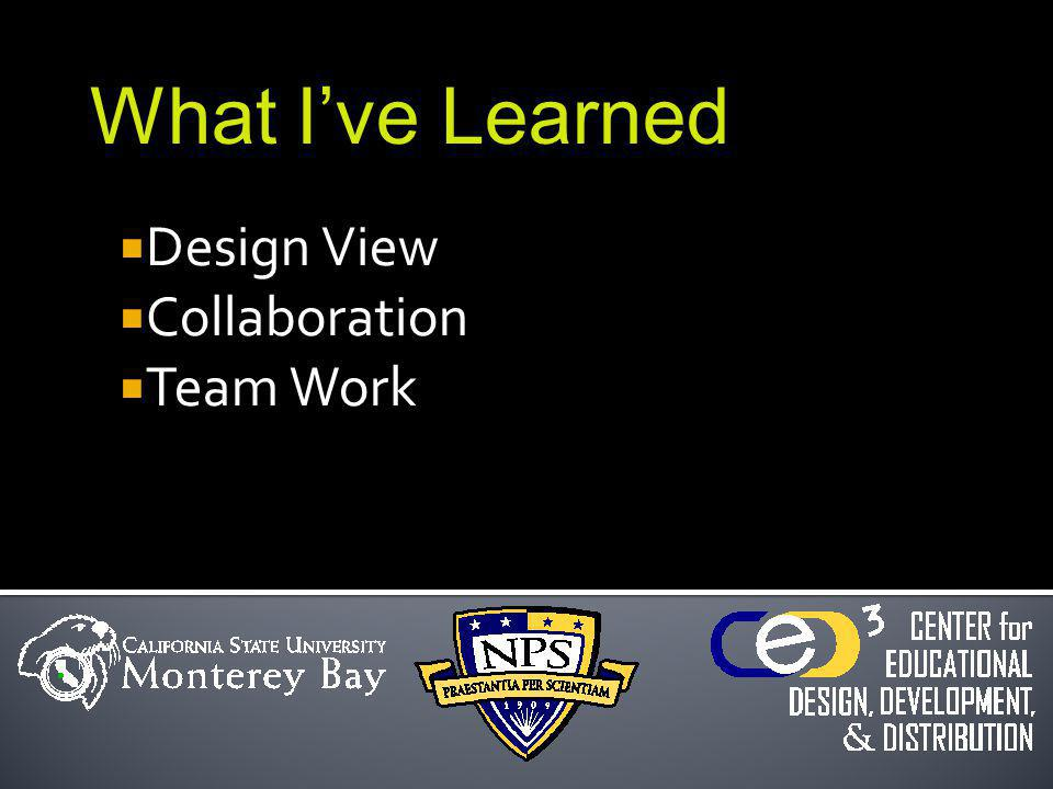 Design View Collaboration Team Work What Ive Learned